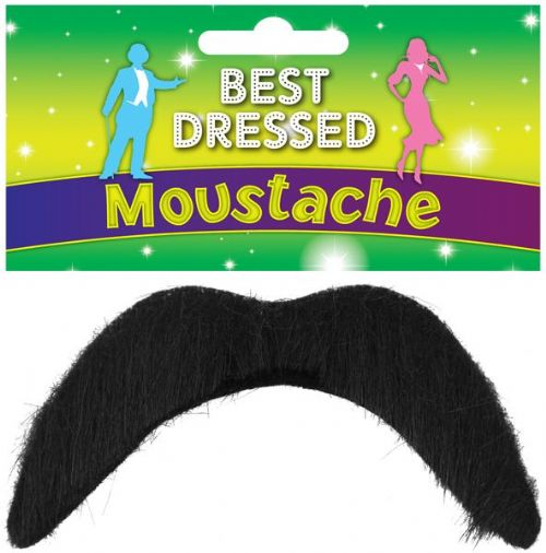 Cowboy Black Tash for 60's 70's 80's 90's Moustache Fancy Dress Accessory